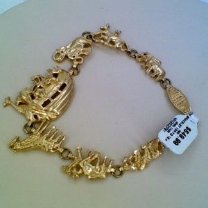 10K Yellow Gold Noah's Ark Animals Bracelet 18.4 G